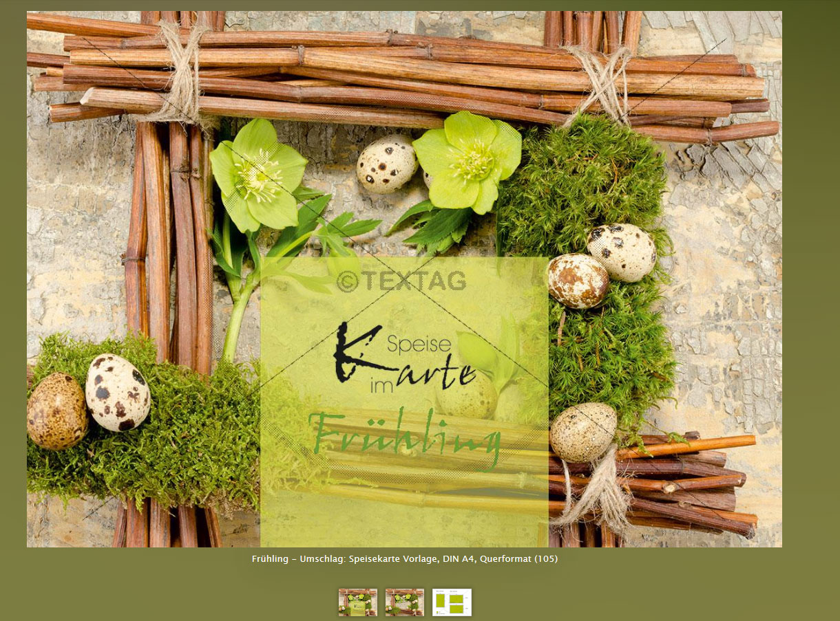 Extravagante Speisekarten Designvorlagen - Frühlings-Menükarte