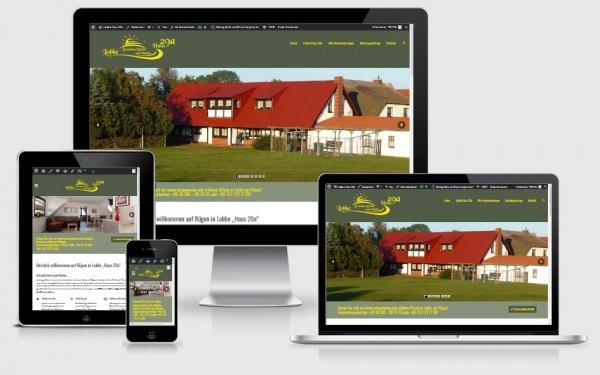 "Responsive Webdesign Referenz - Ferienhaus Lobbe ""Haus29a"", Middelhagen"
