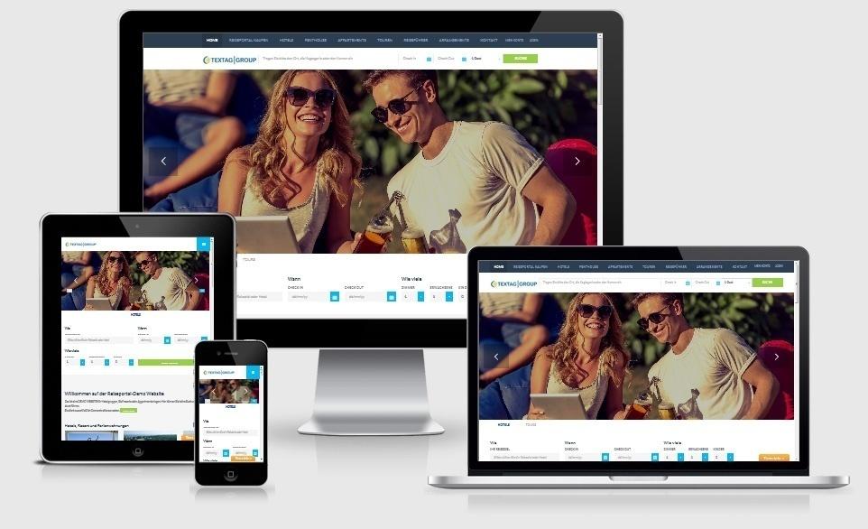 Responsive Webdesign Agentur - Responsive Hotel Website und Reiseportal