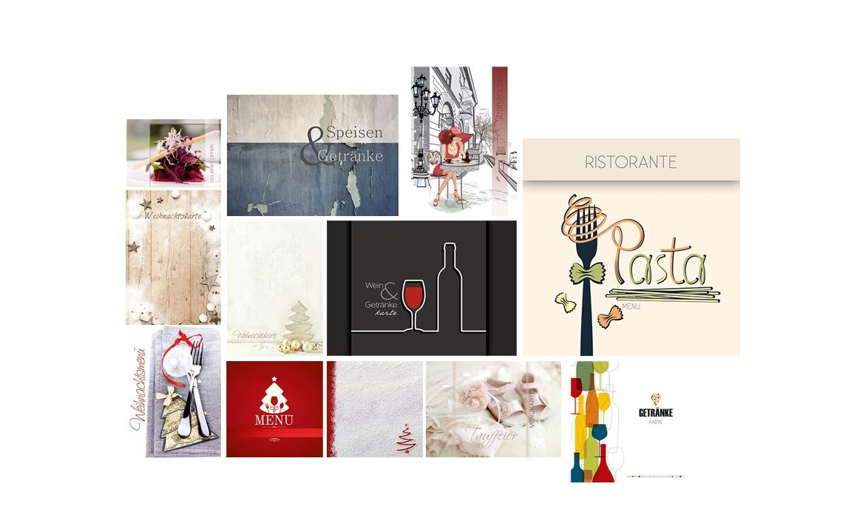 Speisekarten-Design: Extravagante Speisekarten, Deckblätter und Umschläge für Gastronomie & Hotellerie