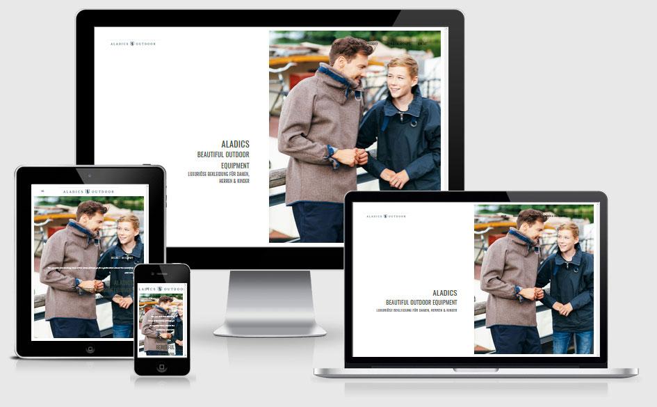 Webdesign - Referenzen: Responsive Website mit WordPress - ALADICS Berlin, Rügen