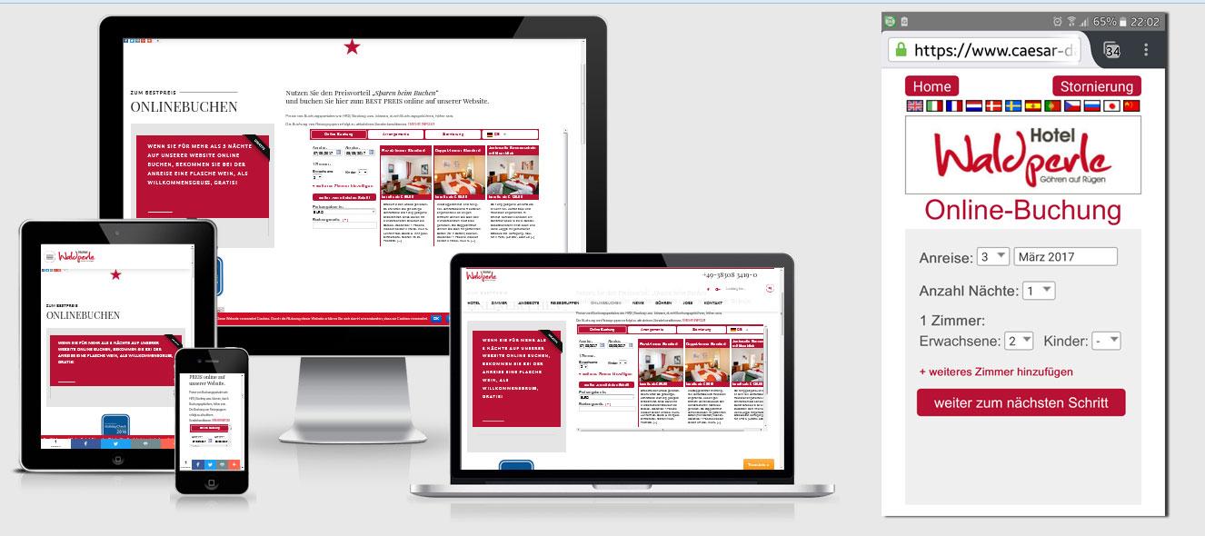 caesar data: Onlinebuchungstool für Hotels und Ferienwohnungen