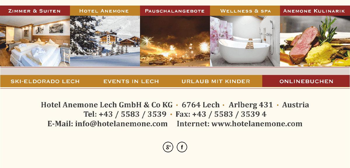Briefkopf E Mail Header Footer Design Vorlage Hotel Anemone