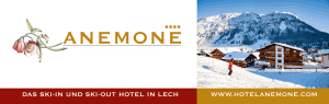 Briefkopf: Header & Footer Design, Hotel Anemone****, Lech am Arlberg, AT