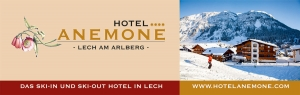 Grafik & Design Referenzen: Briefkopf: Header & Footer Design Vorlage, Hotel Anemone****, Lech am Arlberg, AT