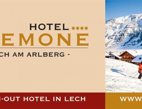Briefkopf: E-Mail Header & Footer Design Vorlage, Hotel Anemone****, Lech am Arlberg, AT