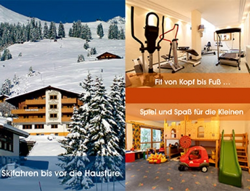 Flyer / Folder DIN A7, Hotel Anemone****, Lech am Arlberg, AT