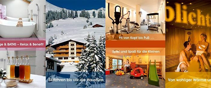 Grafik & Design Referenzen - Hotel Drucksorten, grafische Erstellung: Flyer / Folder A7, 8-seitig, inkl. Druckbegleitung