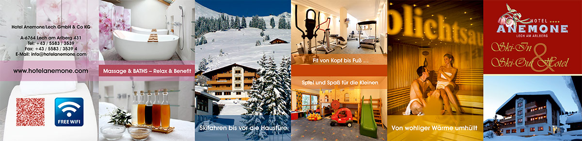 Grafik & Design Referenzen: Flyer A7 Hotel Anemone**** Lech am Arlberg