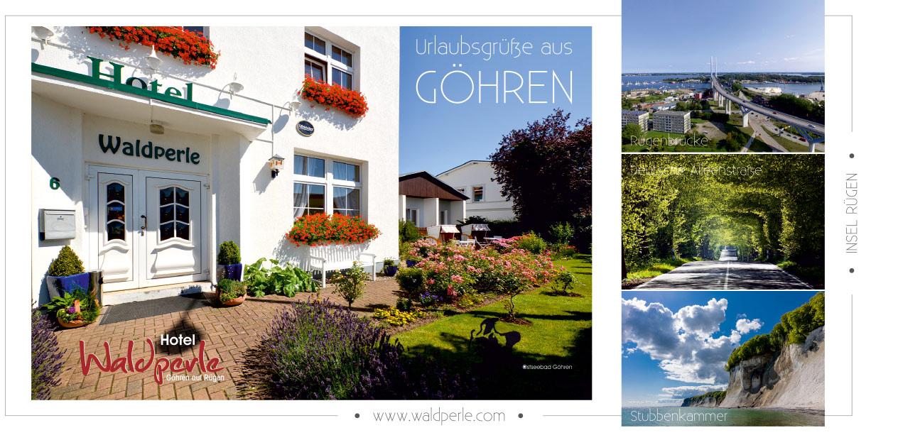 Referenz Postkarten / Ansichtskarten, Hotel Waldperle Göhren