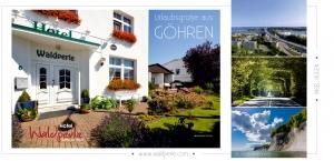 Referenz Postkarten / Ansichtskarten DIN Lang, Hotel Waldperle Göhren