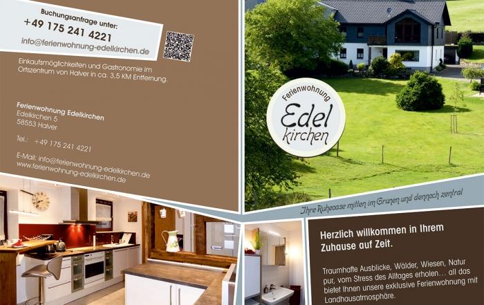 Grafik & Design Referenzen: Ferienwohnung Ehrenkirchen, Halver, Seite 1 und 4