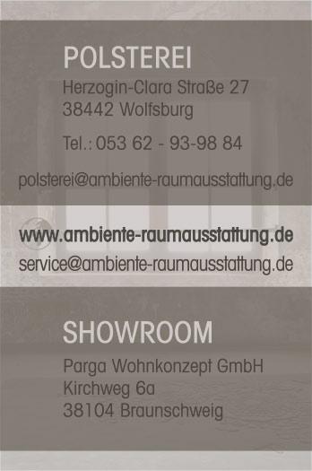 Referenz Visitenkarten Ambiente Raumausstattung Wolfsburg