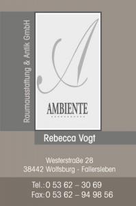 Referenz exklusive Visitenkarte mit partieller Lackierung, Ambiente Raumausstattung Wolfsburg