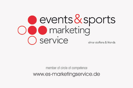 Referenz exklusive Visitenkarte mit partieller Lackierung, Events & Sports Marketing Service, Lubmin