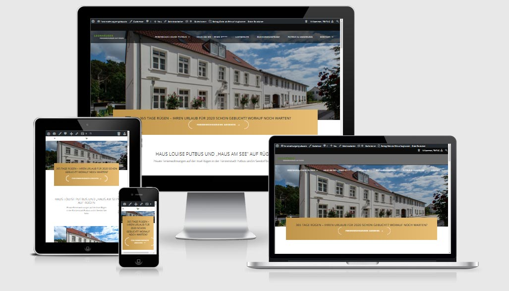 ReDesign Website - Webdesign Referenz - ferienwohnungen-putbus.de