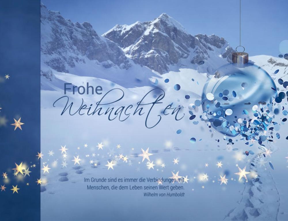 Grafik & Design Referenzen: Weihnachtskarten, Weinmann Haustechnik, Hohenpeißenberg