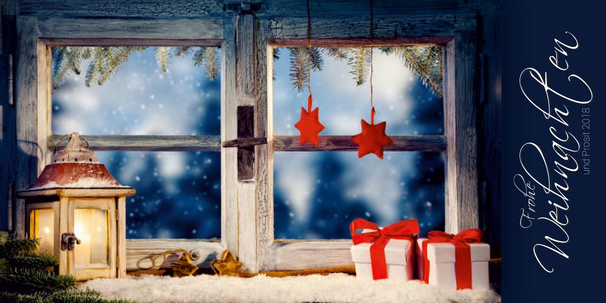 Weihnachtskarte geschäftlich, FMK Aufzüge Knoll GmbH, Groß Lüdershagen bei Stralsund