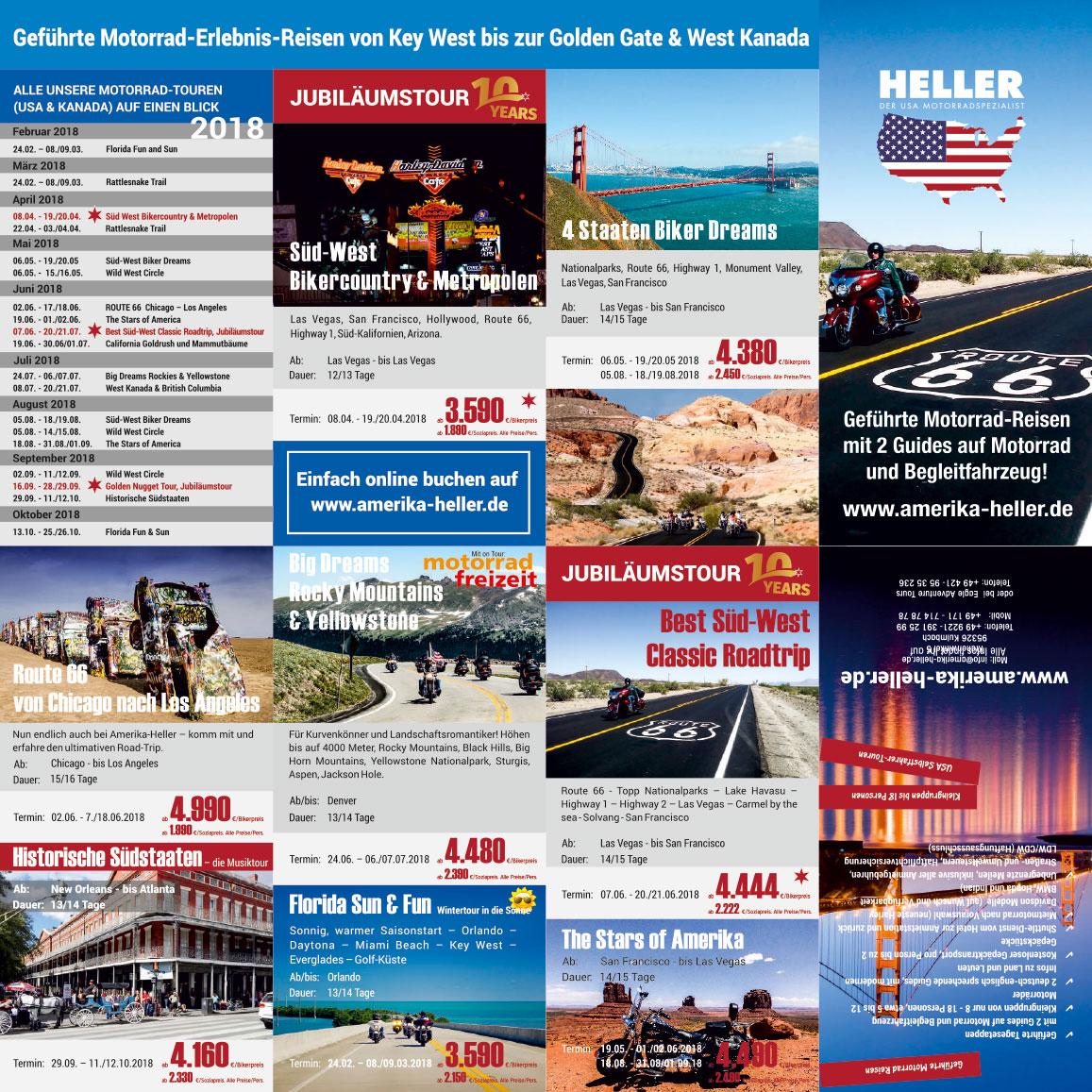 Grafik & Design Referenzen: Reiner Heller JH Amerika-Heller, Las Vegas, USA - Kulmbach, DE