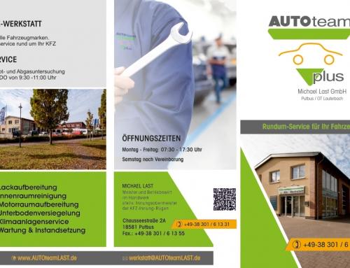 Grafik & Design Referenzen: Flyer & Plakat AUTOteamLAST, Putbus