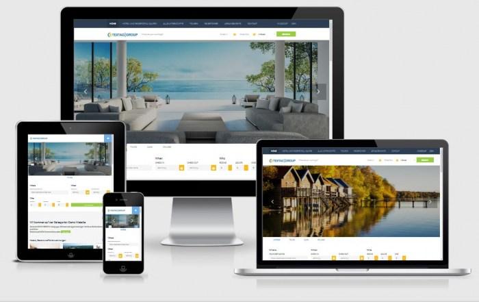 Hotelportal - Vorlage. Responsive Hotel und Reiseportal zum Verkaufen