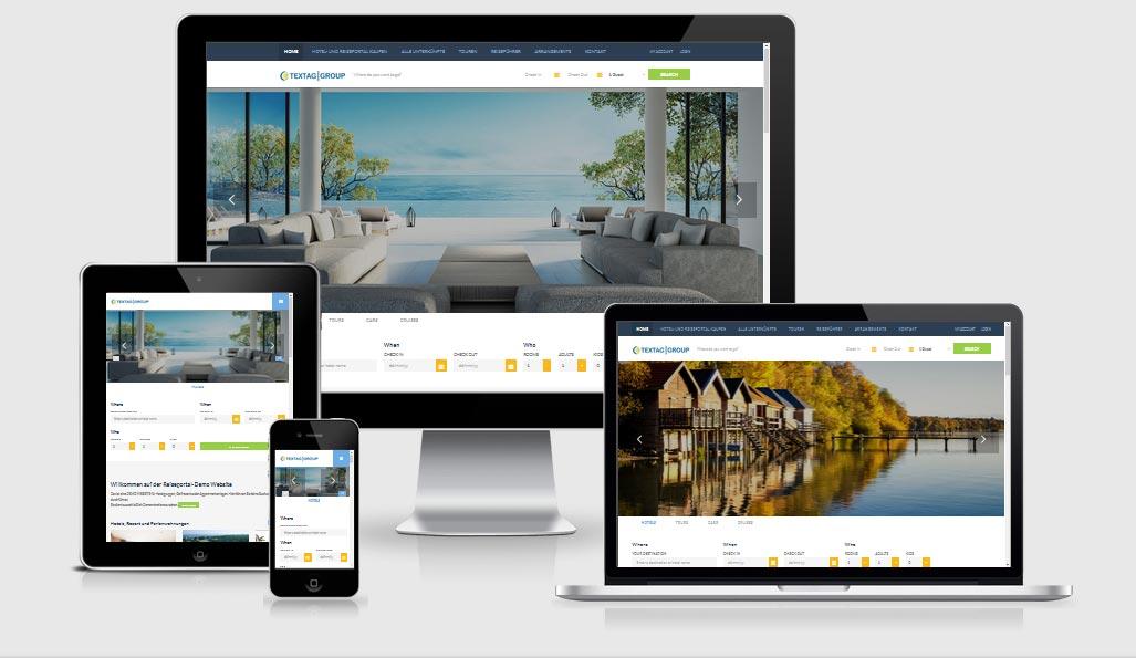 Responsive Hotel und Reiseportal zum Verkaufen - Website Vorlage