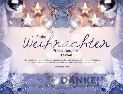 Grafik & Design Referenz: Weihnachts E-Card Delight Medientechnik GmbH & Co KG, Norderstedt