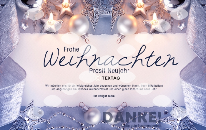 Grafik & Design Referenz: Weihnachts E-Card Delight Medientechnik GmbH & Co KG, Norderstedt