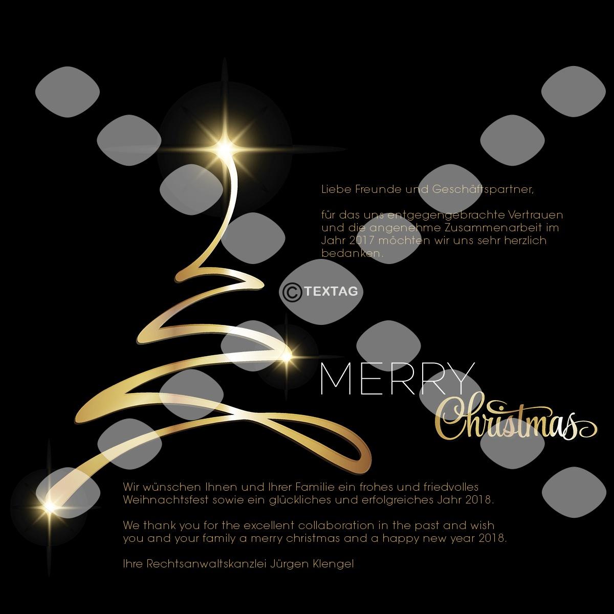 Grafik & Design Referenz: Weihnachts E-Card - Kanzlei Klengel, Frankfurt