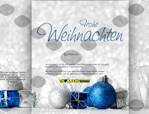 Grafik & Design Referenzen: Weichnachts-e-Card Th. Arens Anlagenbau GmbH, Twist