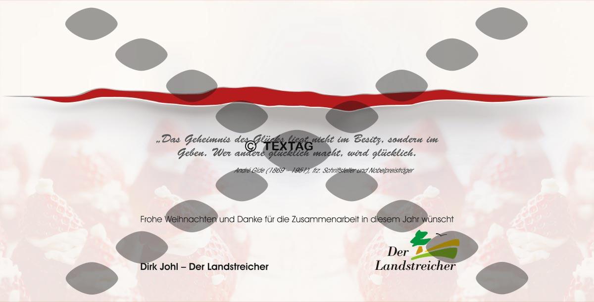 Grafikdesign Referenz - Der Landstreicher - Weihnachstkarte DIN lang