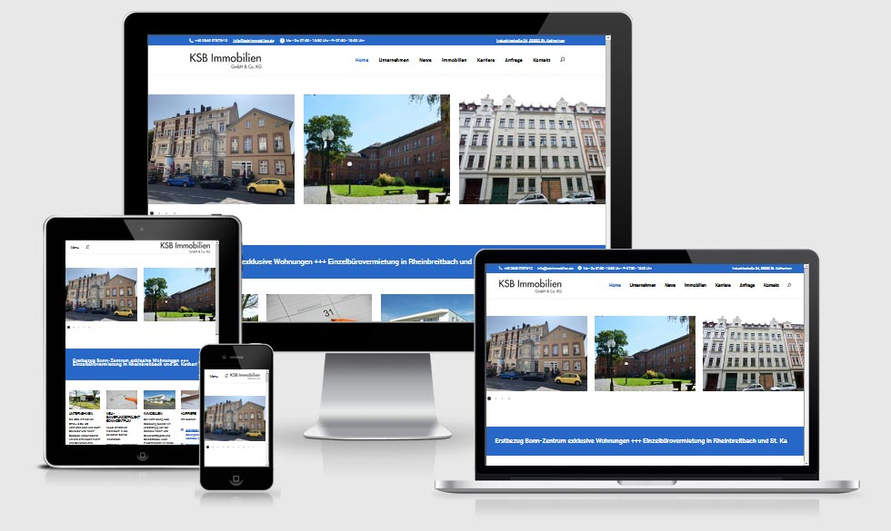 Webdesign Referenz- KSB-Immobilien-GmbH - Co KG