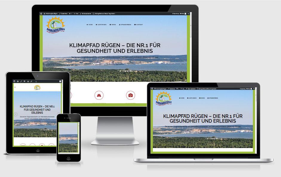 Webdesign-Referenz - Heilklimapfad Rügen - Neu Mukran/Binz