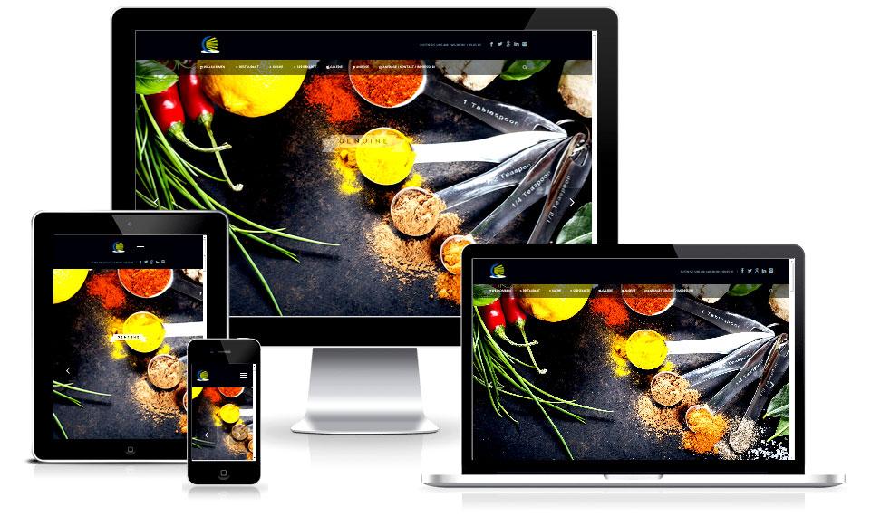 Responsive Webdesign Vorlage: Onepage für Restaurants und Cafes - Webdesign Agentur in Putbus