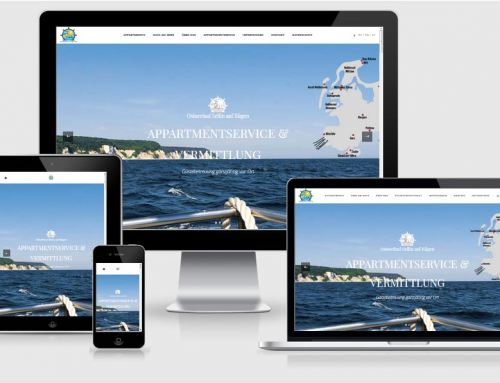 Onepage Referenz – Haus am Meer, Sellin