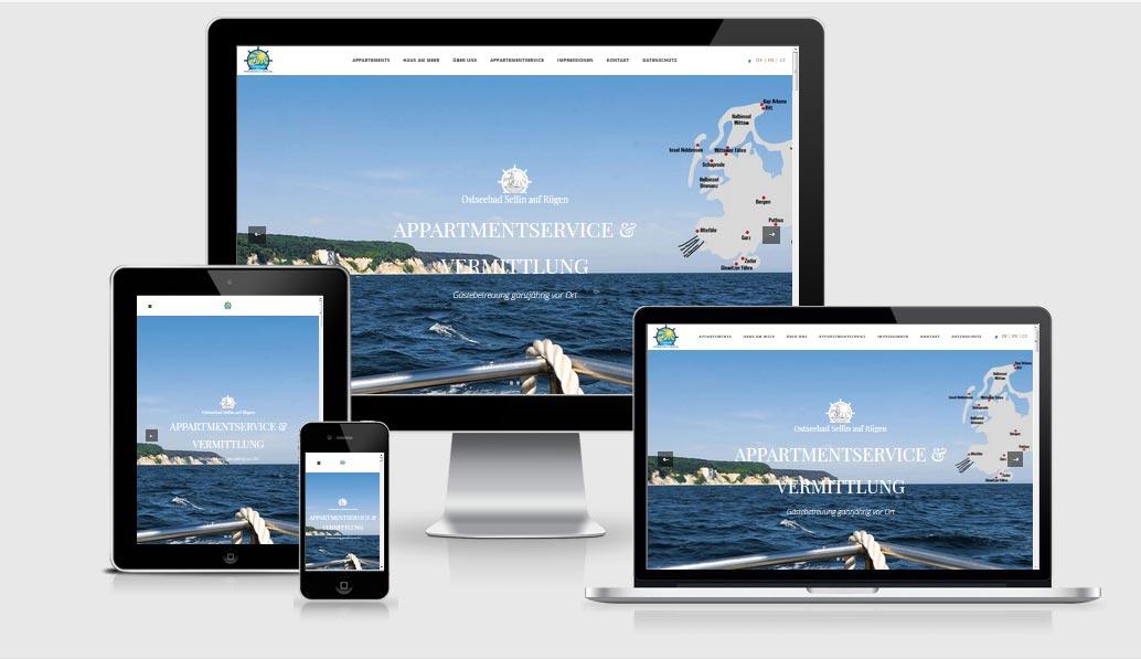 Webdesign-Referenz - Haus am Meer - ap-ferienzeit-ruegen.de