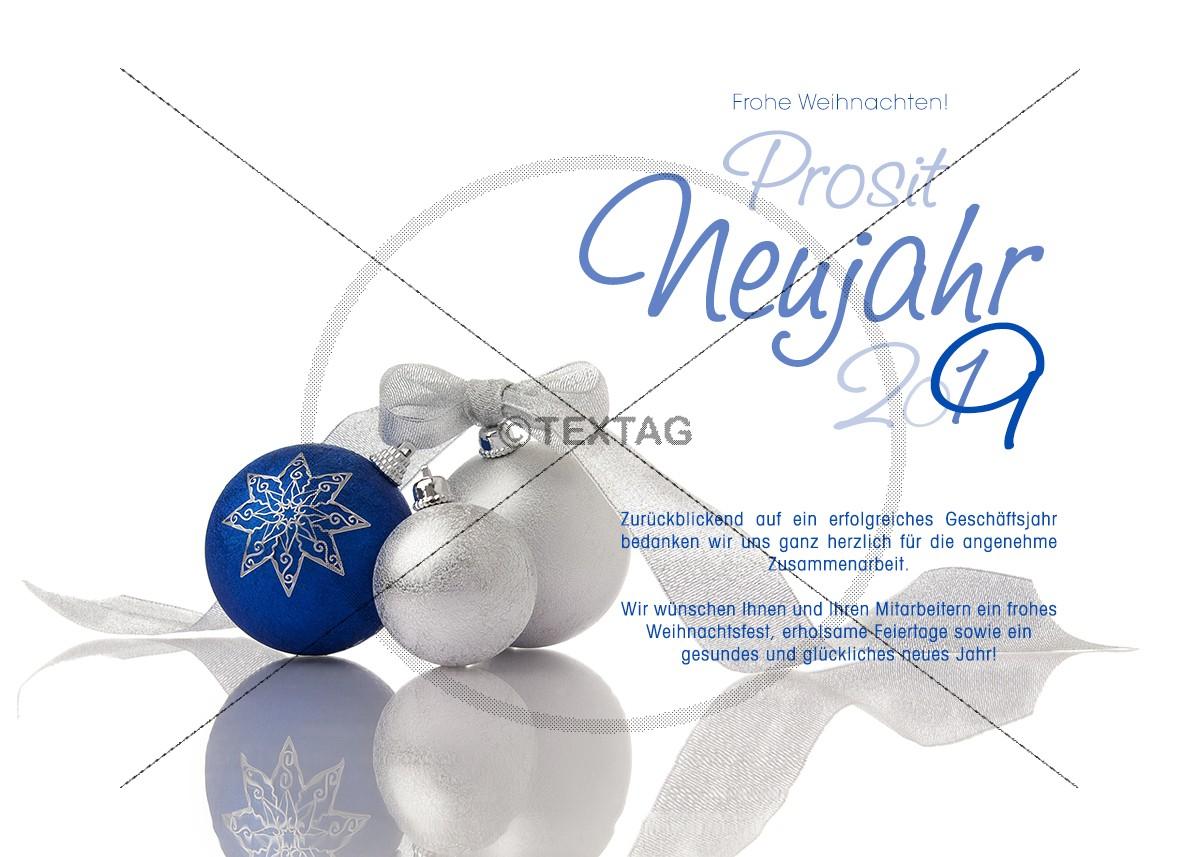 elegante Weihnachtskarte mit Weihnachtskugeln – eCard (239)