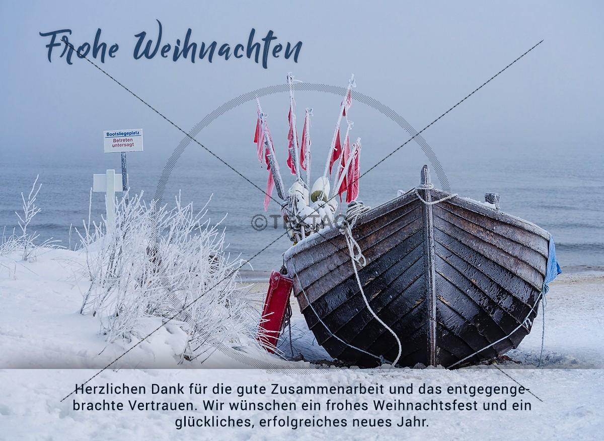 Weihnachten am Strand – E-Card für Kunden (289)