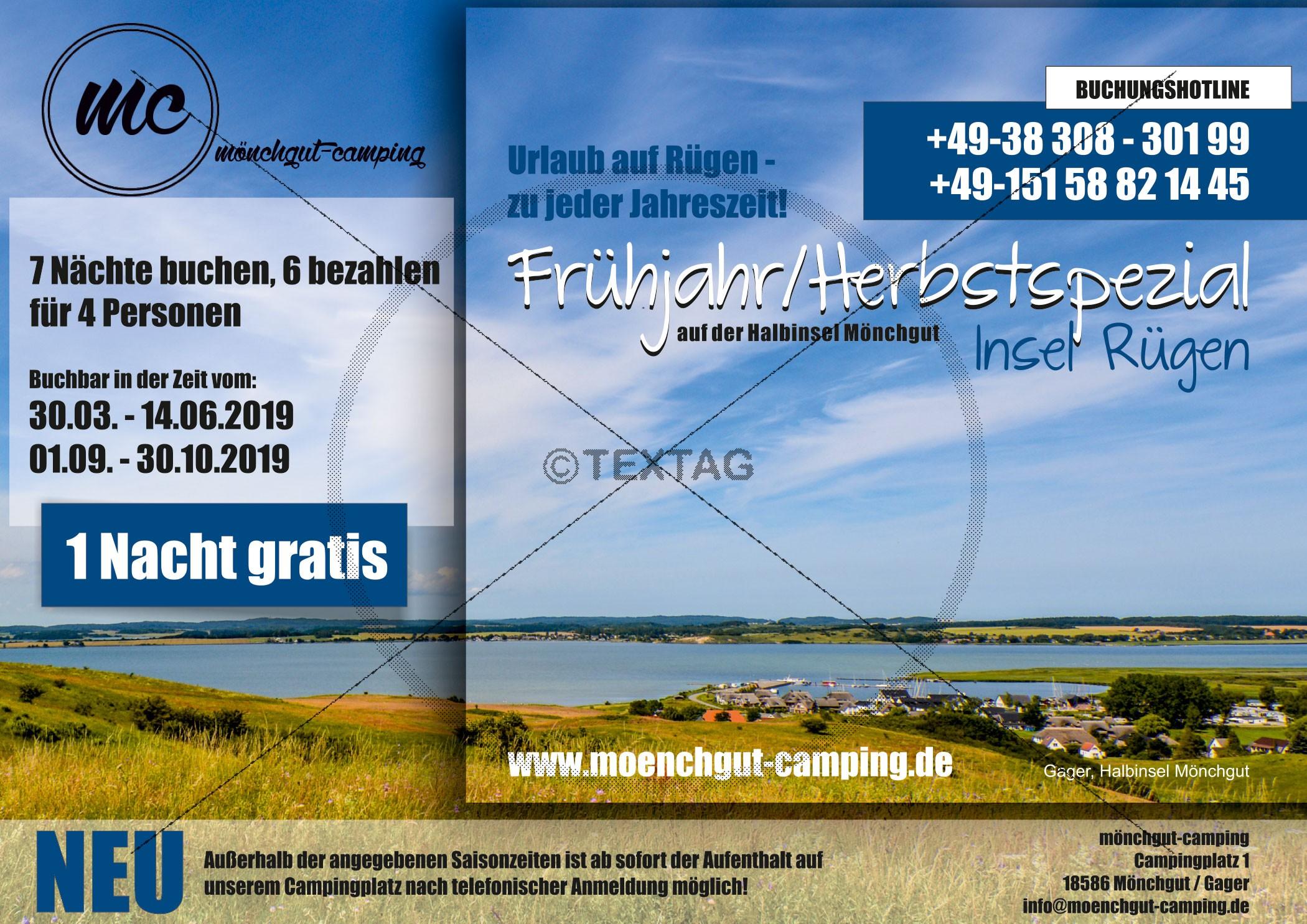 Grafik & Design Referenzen: Onlinewerbung - Mönchgut Camping, Gager