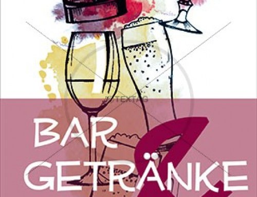 Bar- und Getränkekarte Vorlage 105 x 297 mm, ab 4 Seiten
