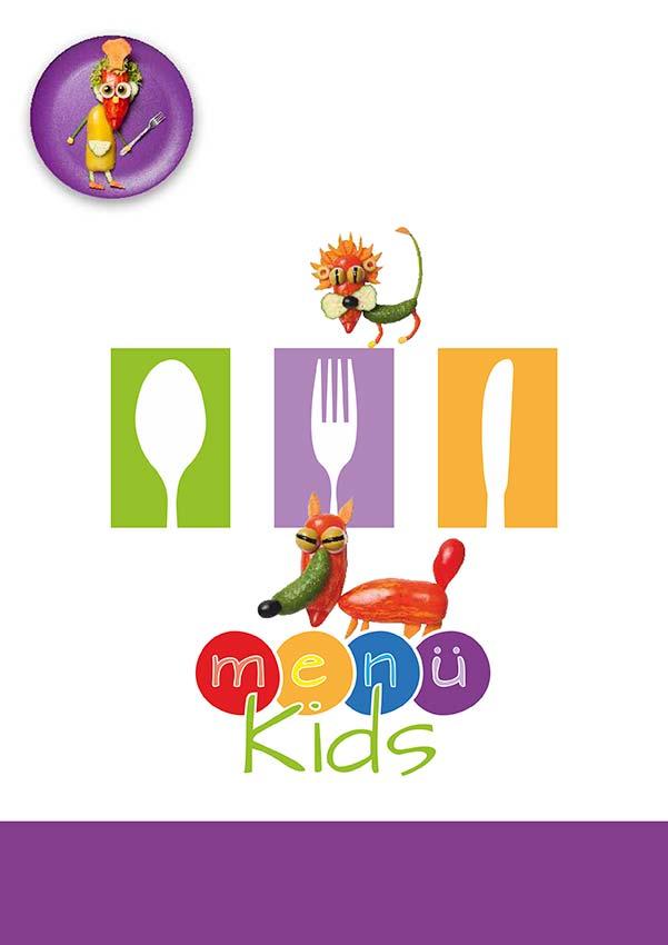 Kinderspeisekarte Vorlage mit Text, 4-Seitig DIN A4 Hochformat (0117)