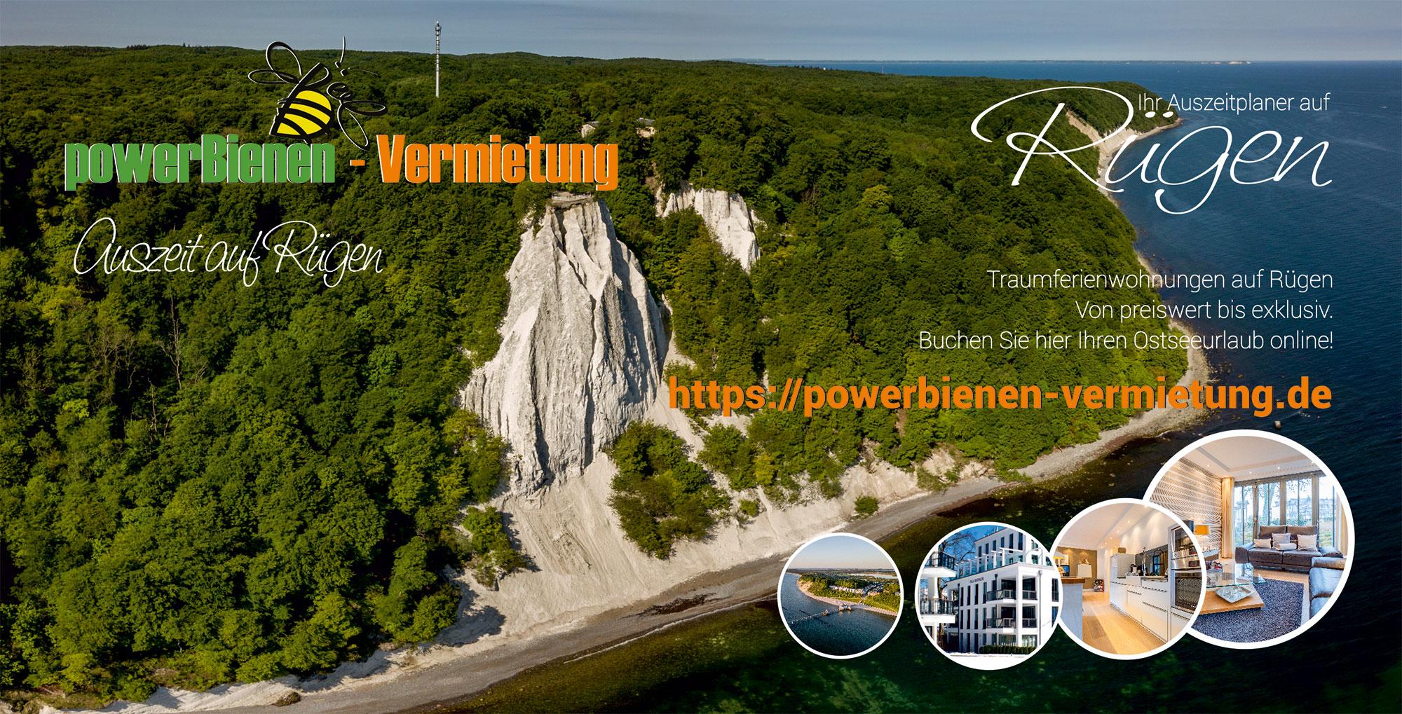 Flyer powerBienen Vermietung, Putbus - Vermietung von Ferienwohnungen