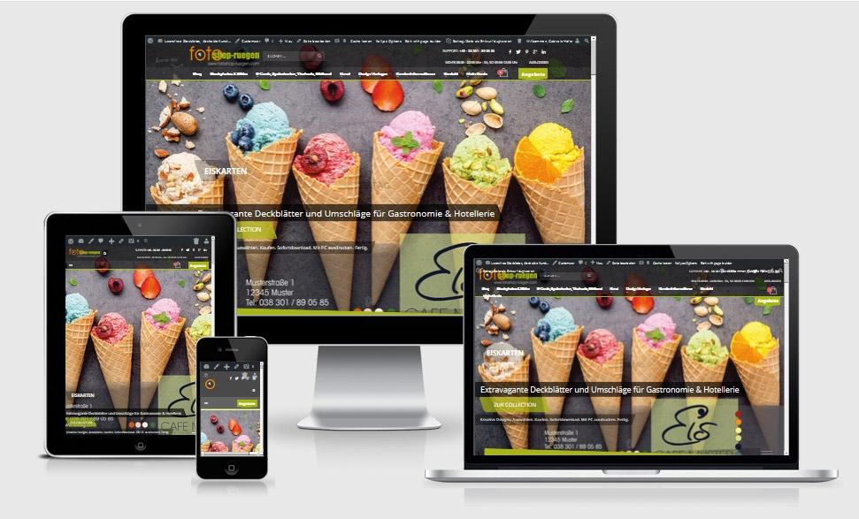 Webdesign Referenz: Webdesign-Referenz: Onlineshop fotoshop-ruegen.com für lizenzfreie Stockfotos, E-Cards, Grußkarten, Postenkarten, Ansichtskarten, Speisekarten Designvorlagen, Flyer Vorlagen, Gutscheinkarten, Abstrakte Kunst, moderne Malerei