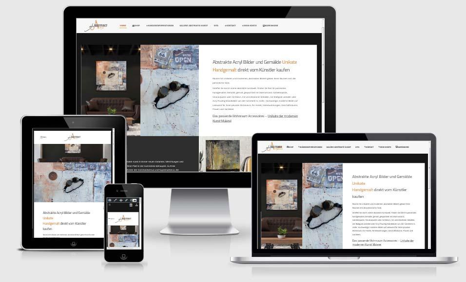 Webdesign-Referenz: Onlineshop https://abstrakte-kunst.kaufen/ Abstrakte Acryl Bilder und Gemälde Unikate Handgemalt direkt vom Künstler kaufen