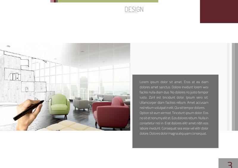 Grafik und Design Vorlagen: Broschüre / Exposé Vorlage für Architekten und Immobilienmakler DIN A4, Querformat.TEXTAG