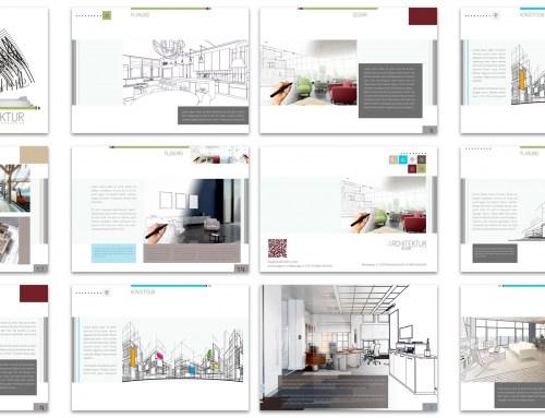Broschüre Vorlage für Architekten DIN A4, Querformat