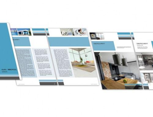 Broschüre / Exposé Vorlage für Architekten und Immobilienmakler DIN A4, Hochformat