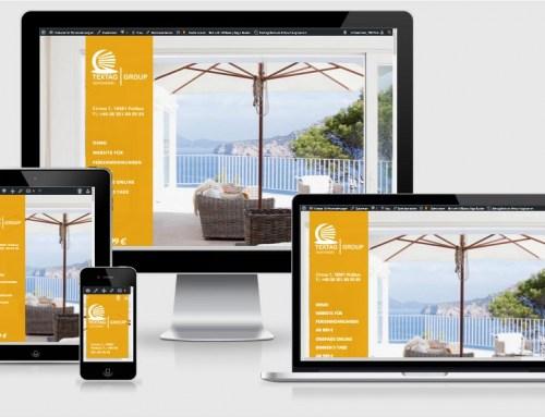 Website für Ferienwohnungen Vorlage