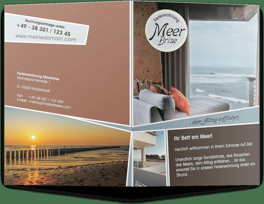 Flyer Vorlage für Ferienwohnungen - TEXTAG GROUP