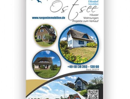 Grafikdesign Referenzen: Rollup Uhlendorf Immobilien, Rügen, Binz